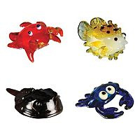 Looking Glass 4-pk. Crab & Puffer Fish Mini Figurines