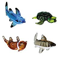 Looking Glass 4-pk. Shark, Sea Turtle & Otter Mini Figurines