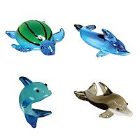 Looking Glass 4-pk. Sea Turtle & Dolphin Mini Figurines