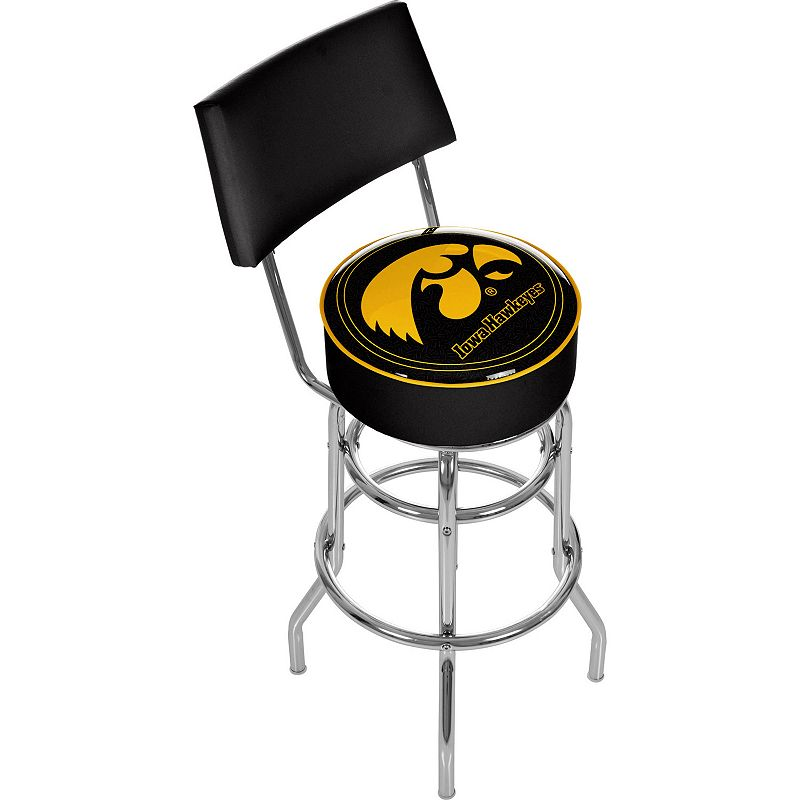 Iowa Hawkeyes Padded Swivel Bar Stool with Back