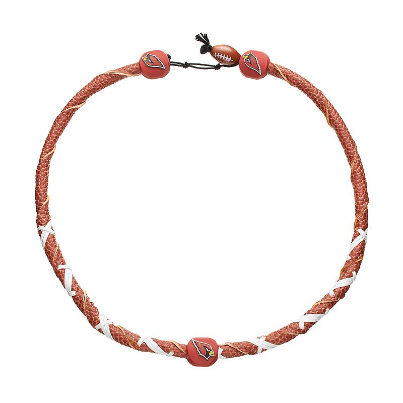 GameWear Frozen Rope Arizona Cardinals Leather Football Necklace