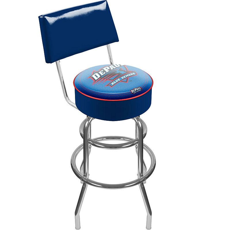 DePaul Blue Demons Padded Swivel Bar Stool with Back