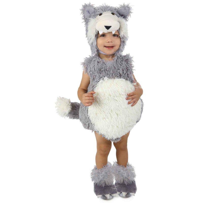 Vintage Wolf Costume - Baby (White/Grey)