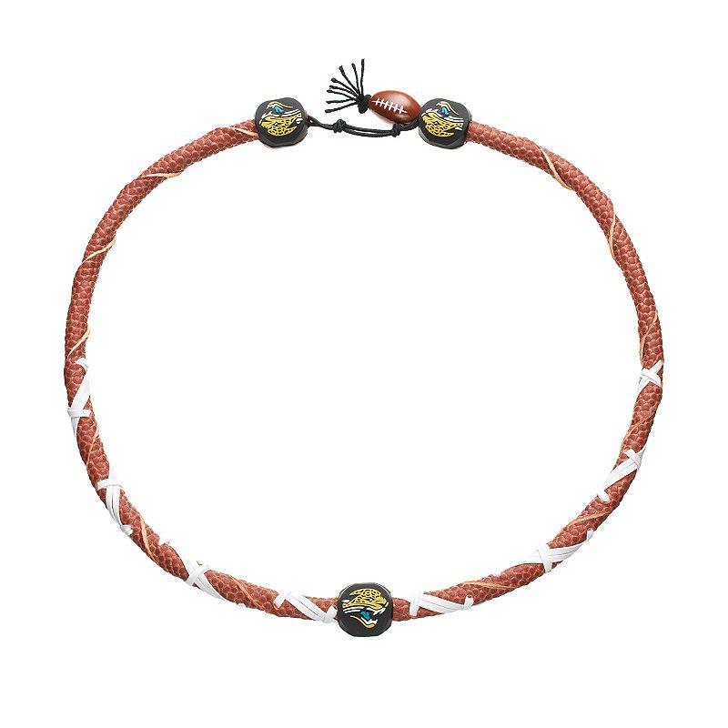 GameWear Frozen Rope Jacksonville Jaguars Leather Football Necklace