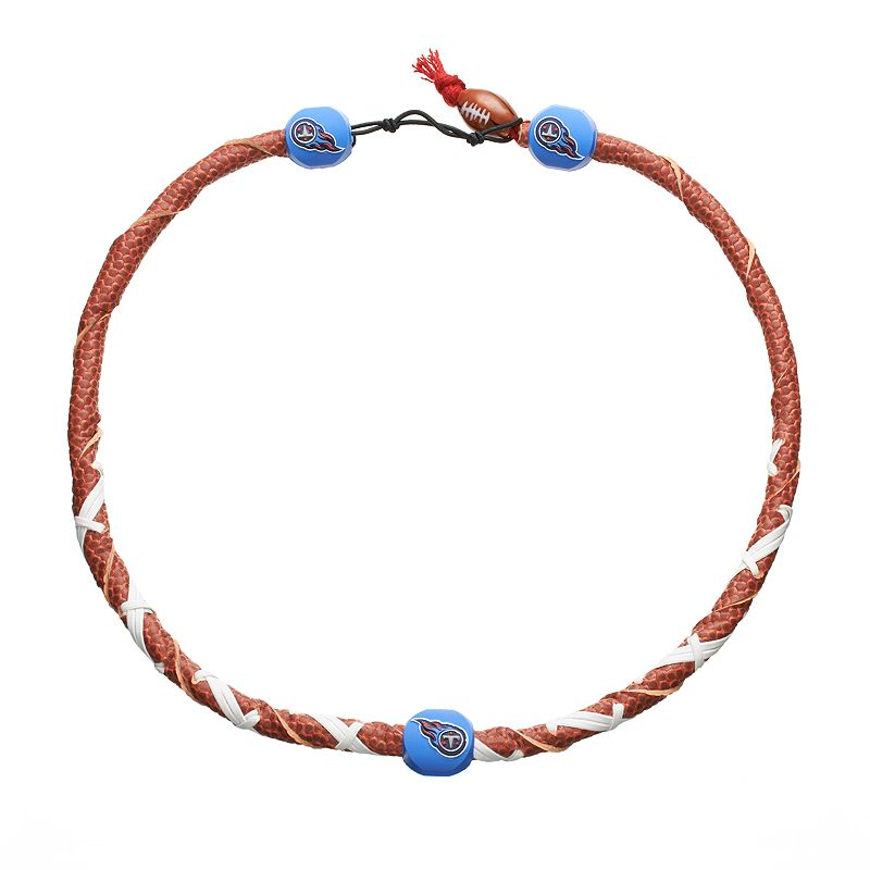 GameWear Frozen Rope Tennessee Titans Leather Football Necklace