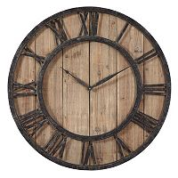 Powell Wood Wall Clock