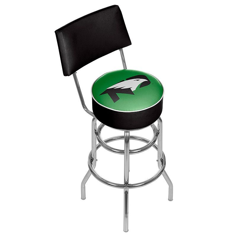 North Dakota Padded Swivel Bar Stool with Back