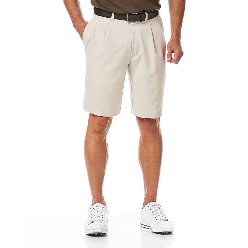 Men's Grand Slam Classic-Fit Performance Double-Pleated Golf Shorts