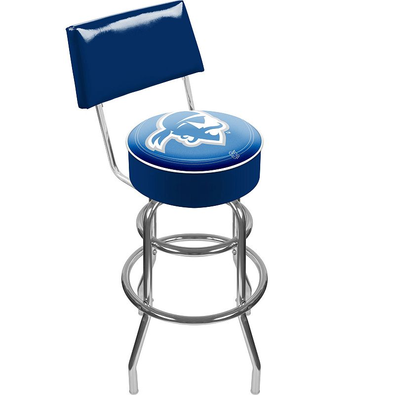 Seton Hall Pirates Padded Swivel Bar Stool with Back