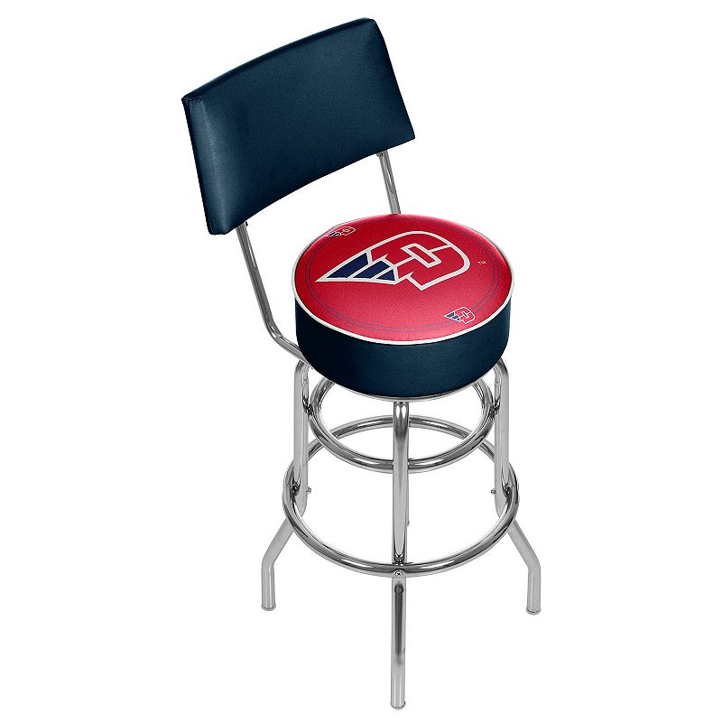 Dayton Flyers Padded Swivel Bar Stool with Back