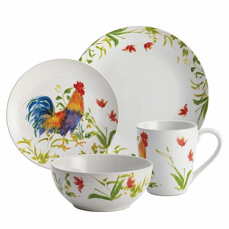 BonJour Meadow Rooster 16-pc. Dinnerware Set
