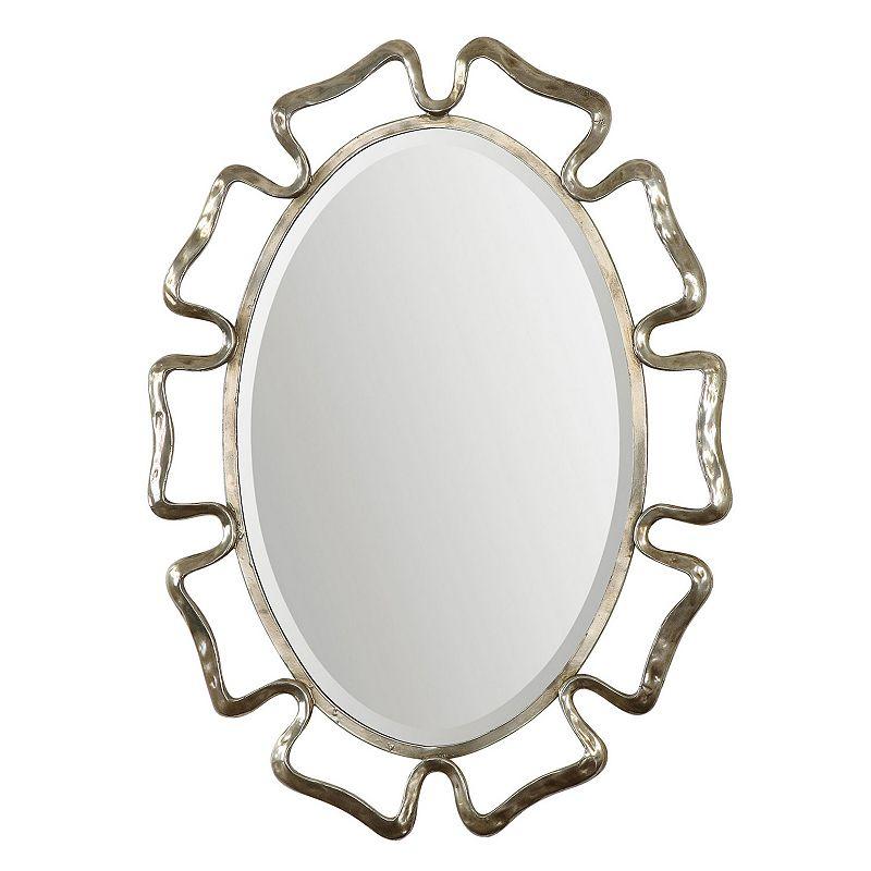 Becarria Oval Wavy Wall Mirror
