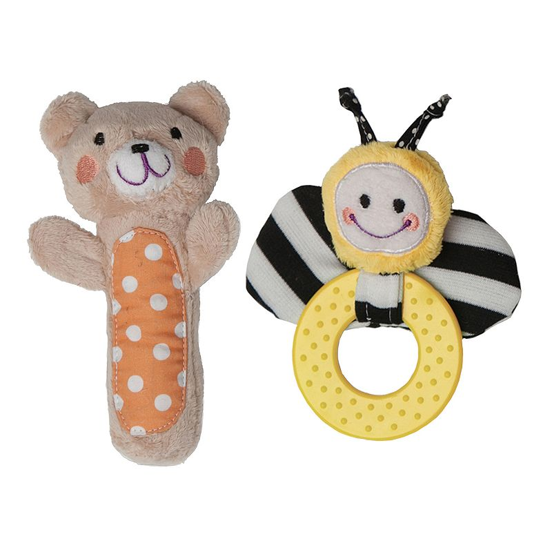 Boppy Bee and Bear Squeaker and Teether Set
