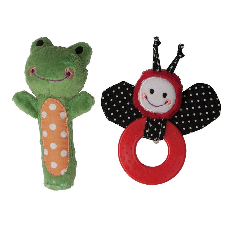 Boppy Ladybug and Frog Squeaker and Teether Set