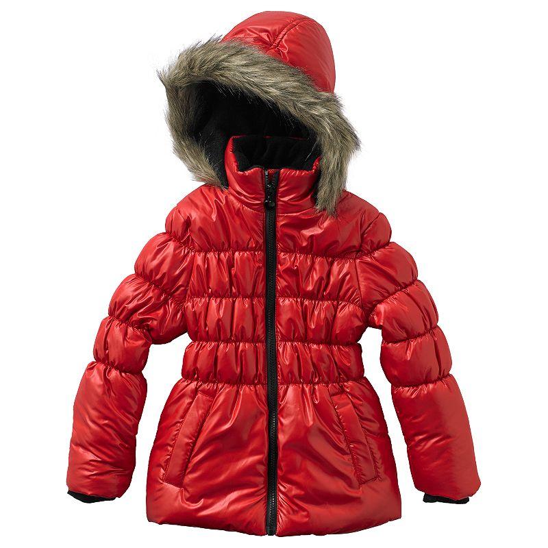 Girls 4-6x Mint Girl Faux-Fur Trim Puffer Jacket