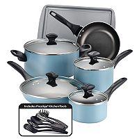 Farberware 15-pc. Color Nonstick Aluminum Cookware Set