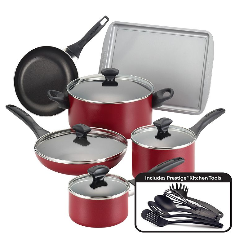 Farberware 15-pc. Color Nonstick Aluminum Cookware Set