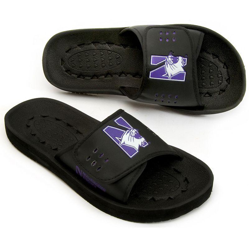 Adult Northwestern Wildcats Slide Sandals