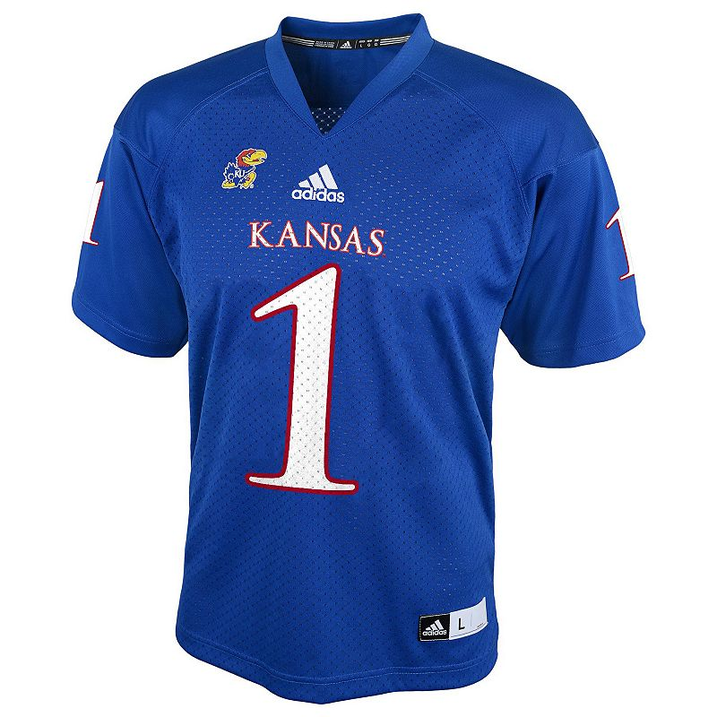 Boys 8-20 adidas Kansas Jayhawks Replica NCAA Football Jersey