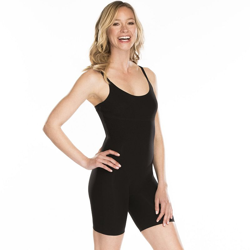 Featuring a soft fabric blend and a light-control design, this women's Maidenform Shapewear Body Shaper feels great as it slims your back, midsection, sides and rear.