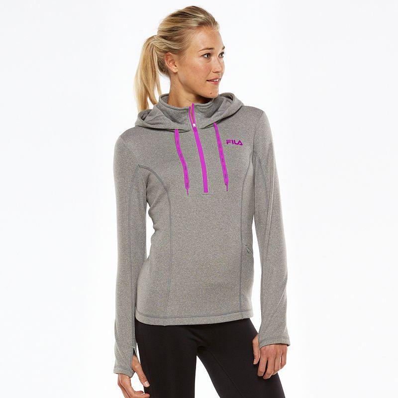 Women's FILA SPORT® Fleece Quarter-Zip Running Hoodie