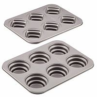 Cake Boss™ Novelty 2-pc. Round & Square Cakelette Pan Set