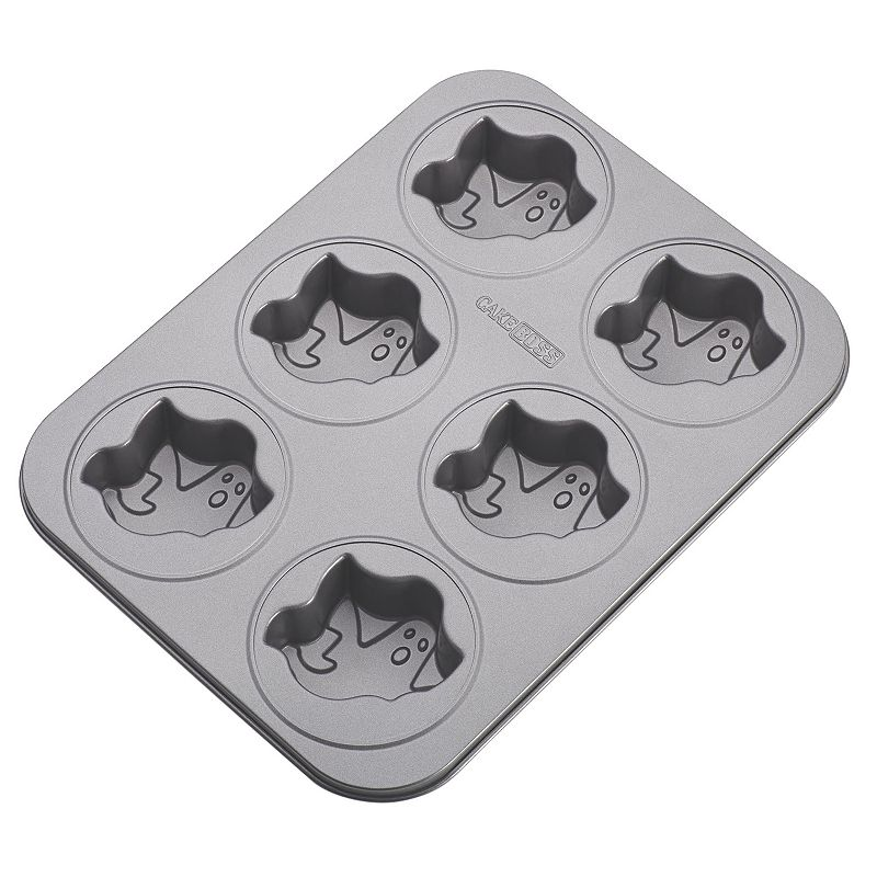 Cake Boss Novelty 6-Cup Nonstick Ghost Cakelette Pan