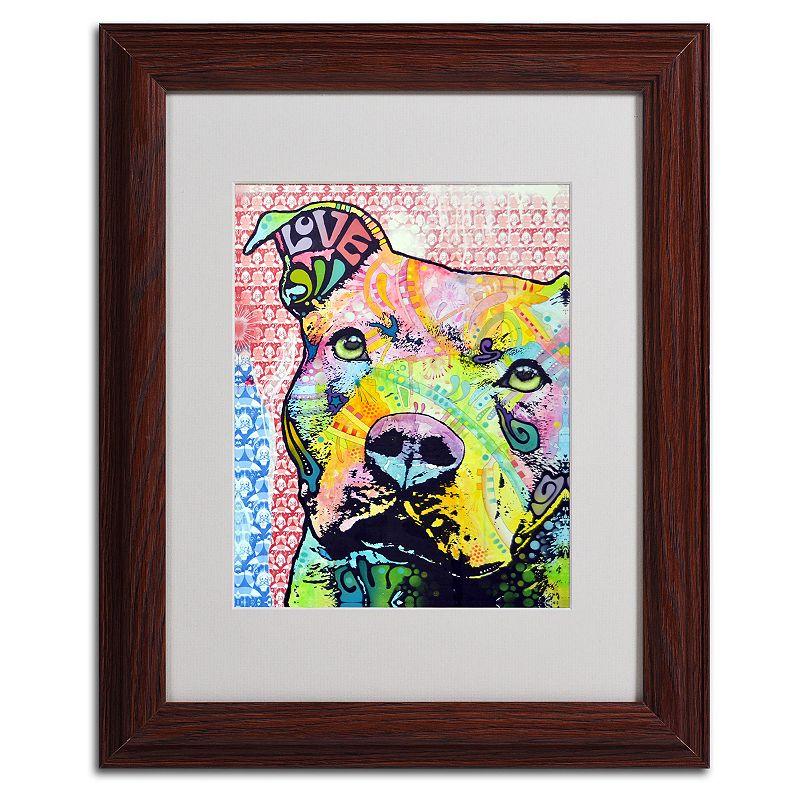 Kohls canvas wall art : Thoughtful pitbull ii  framed canvas wall art
