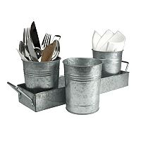 Arltand Oasis Galvanized Picnic Caddy