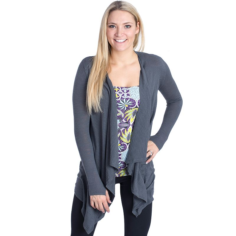 Women's Soybu Lena Slubbed Open-Front Yoga Cardigan