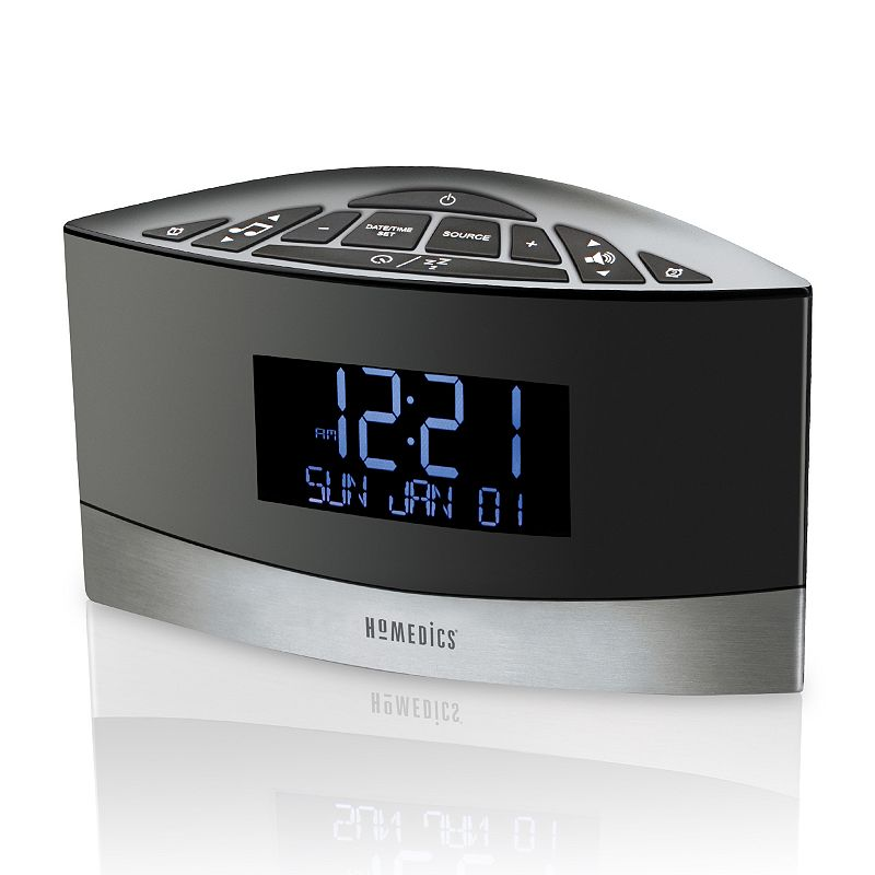 homedics alarm clock instructions