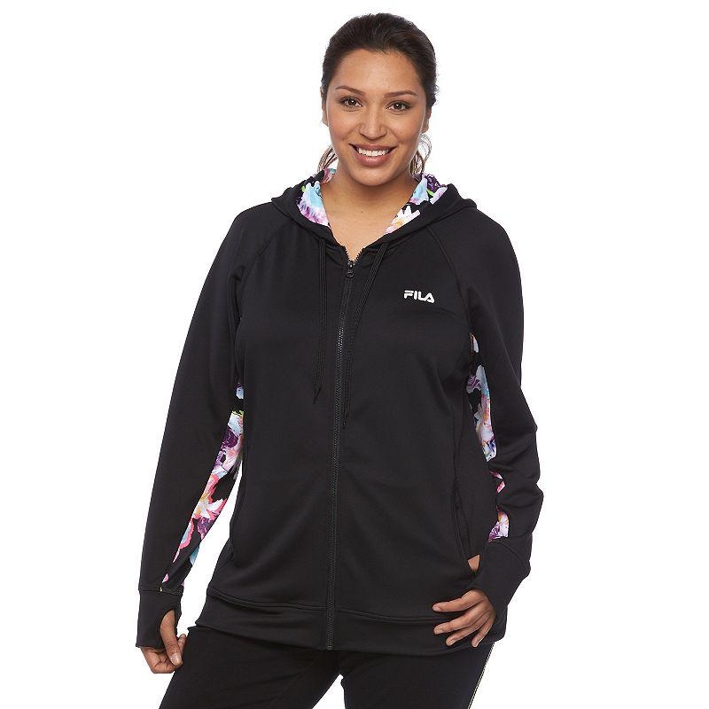 Plus Size FILA SPORT® Samoa French Terry Full-Zip Running Hoodie