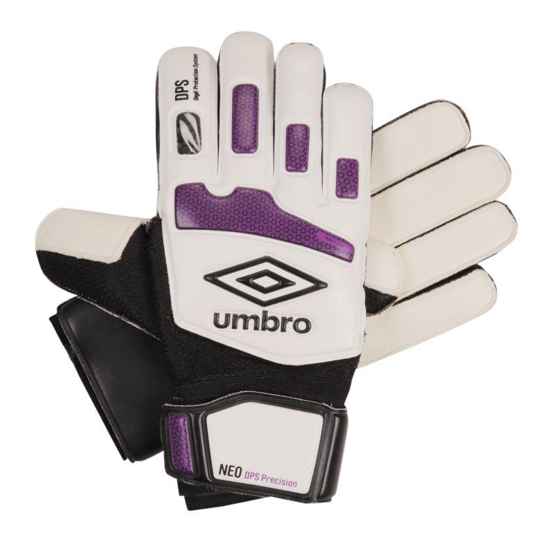 Umbro NEO DPS Precision Soccer Goalkeeper Gloves - Junior, White thumbnail