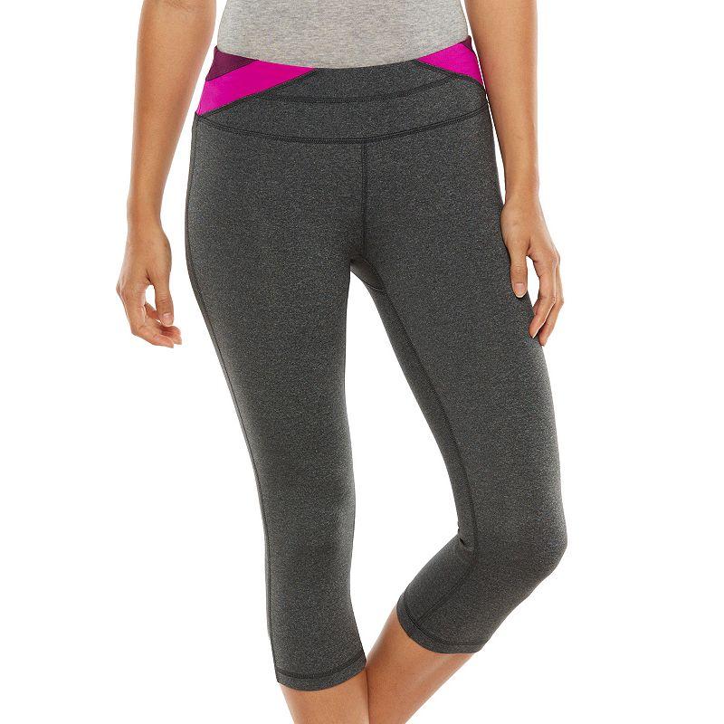 Plus Size Tek Gear® Shapewear Colorblock Capri Leggings