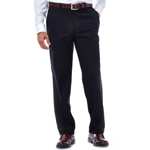 Men's Haggar® Plaid Slim-Fit Core Comfort Waistband Flat-Front Pants