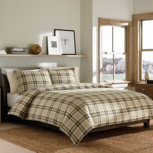 Eddie Bauer Edgewood Flannel Duvet Cover Set Green Price