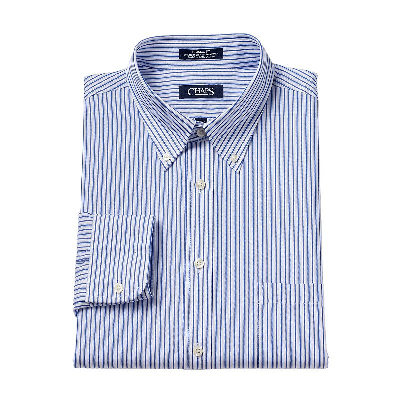 Men's Chaps Classic-Fit Broadcloth Button-Down Collar Dress Shirt
