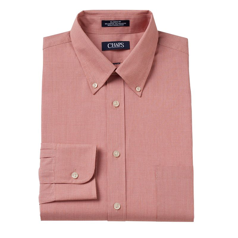 Men 39 s chaps classic fit broadcloth button down collar for Chaps mens dress shirts