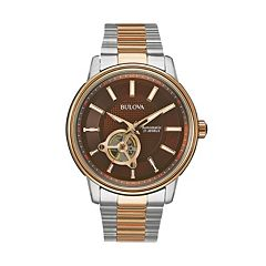 Bulova Men's Two Tone Stainless Steel Automatic Watch 98A140