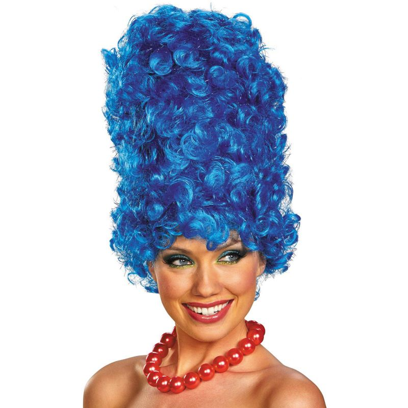 The Simpsons Marge Deluxe Glam Costume Wig - Adult, Blue