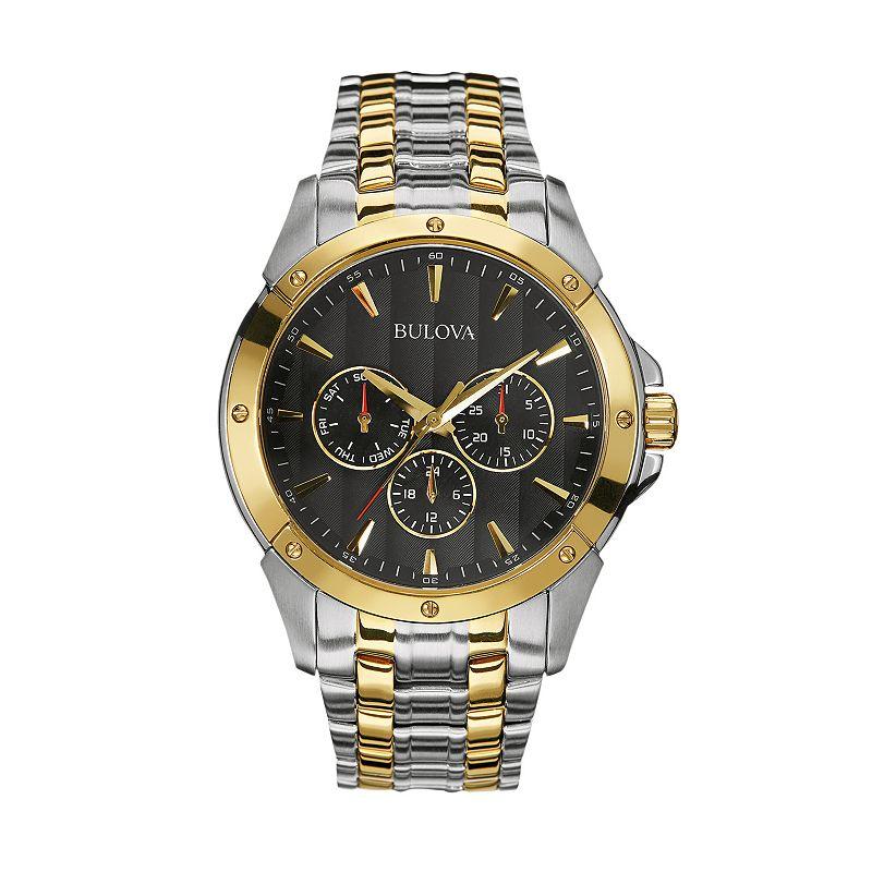 Bulova Men's Two Tone Stainless Steel Watch - 98C120