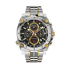 Bulova Men's Precisionist Two Tone Stainless Steel Chronograph Watch 98B228