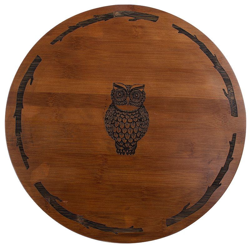 Thirstystone Bamboo Owl Lazy Susan