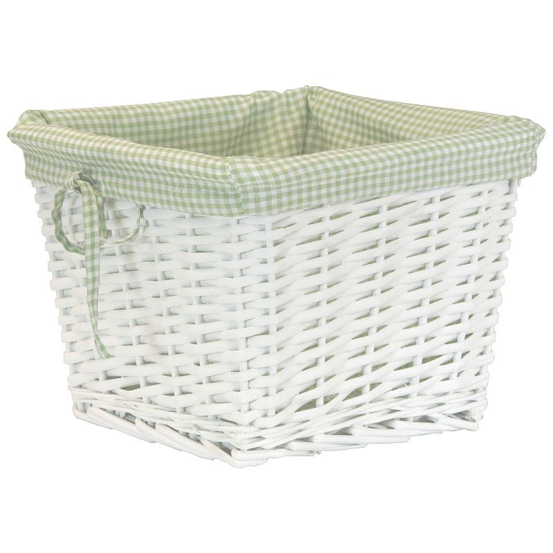 W.C. Redmon Small Willow Basket Gingham Liner
