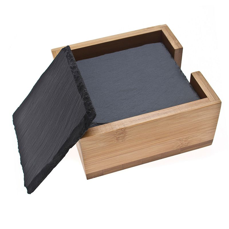 Thirstystone 6-pc. Slate Coaster Set with Holder