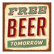 Thirstystone 4-pc. ''Free Beer Tomorrow'' Occasions Coaster Set, Multicolor