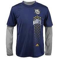 Boys 8-20 adidas Marquette Golden Eagles ClimaLite Performance Tee Set