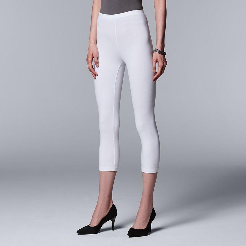 Plus Size Simply Vera Vera Wang Low-Rise Capri Leggings