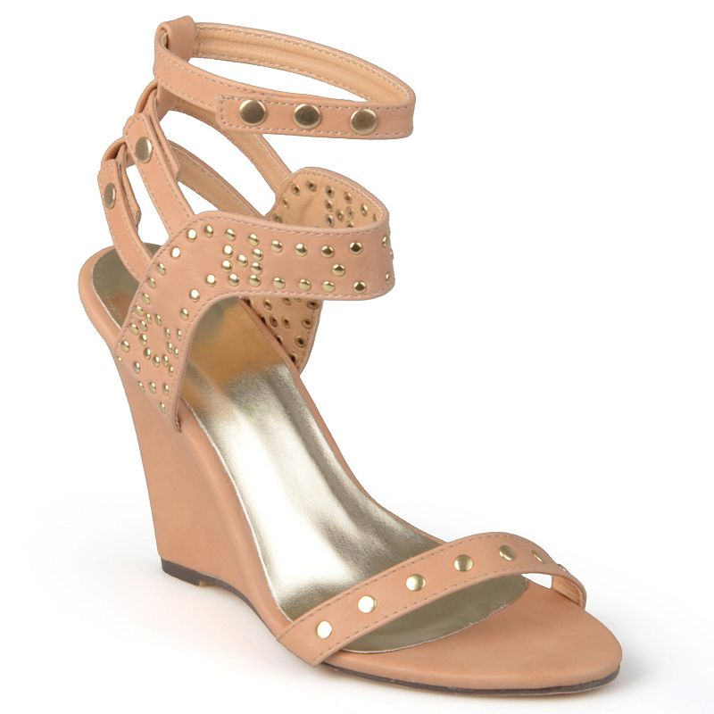 Journee Collection Jaida Women's Studded Wedge Sandals
