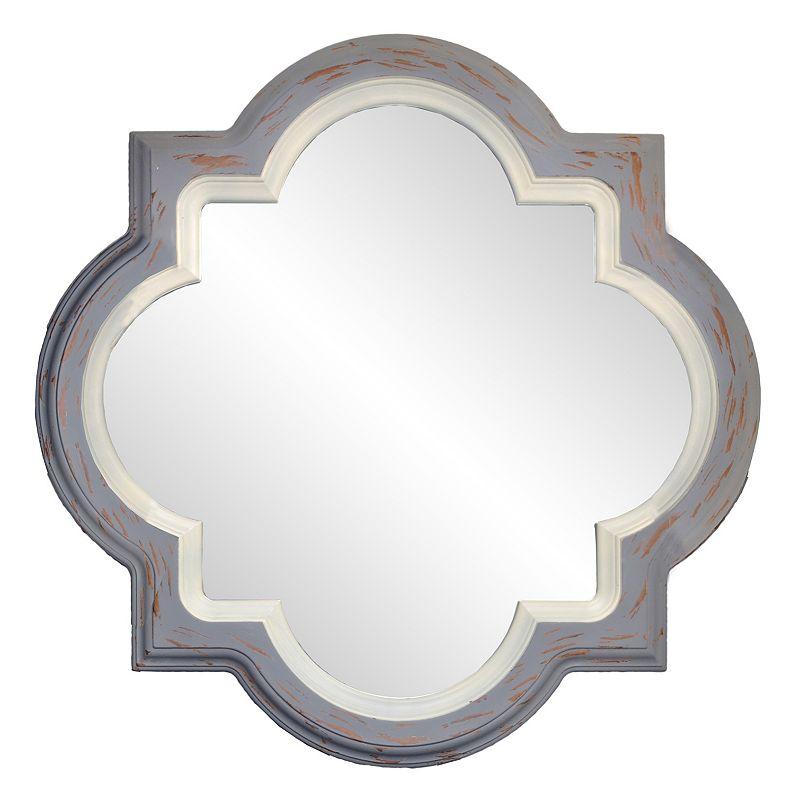 Quatrefoil Metal Wall Decor : Belle maison quatrefoil wall mirror